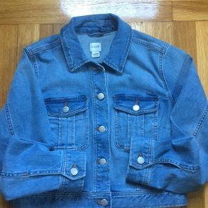 JCrew size S cropped jean jacket